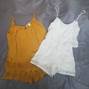 H&M short rompers